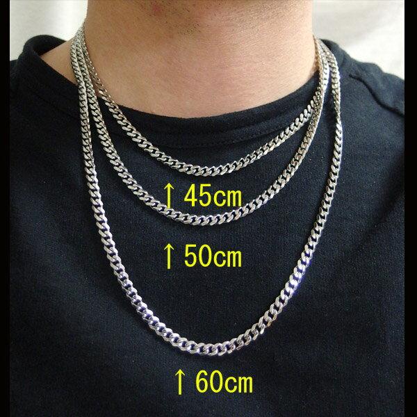 ステンレス・喜平チェーン5mm選択可45cm・50cm・60cm/【メイン】シルバー925銀・ステンレスネックレス・医療用サージカルステンレス316L