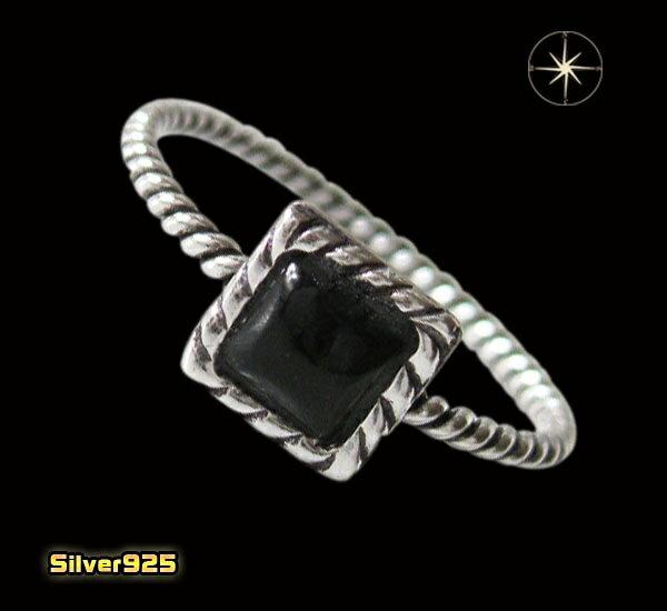 デザインリング(40)オニキス07号・09号・11号・13号・15号・17号/【メイン】天然石・シンプルな指輪・シルバー925銀送料無料!