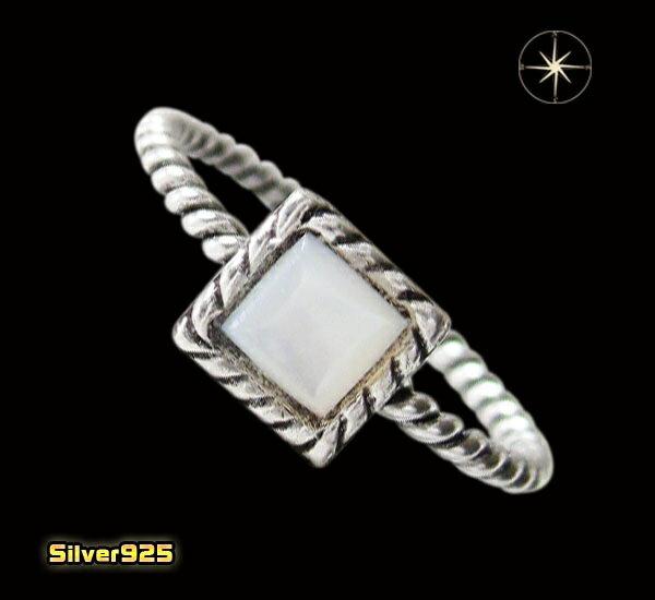 今だけ!デザインリング(40)白シェル07号・09号・11号・13号・15号・17号/【メイン】天然石・シンプルな指輪・シルバー925銀送料無料!