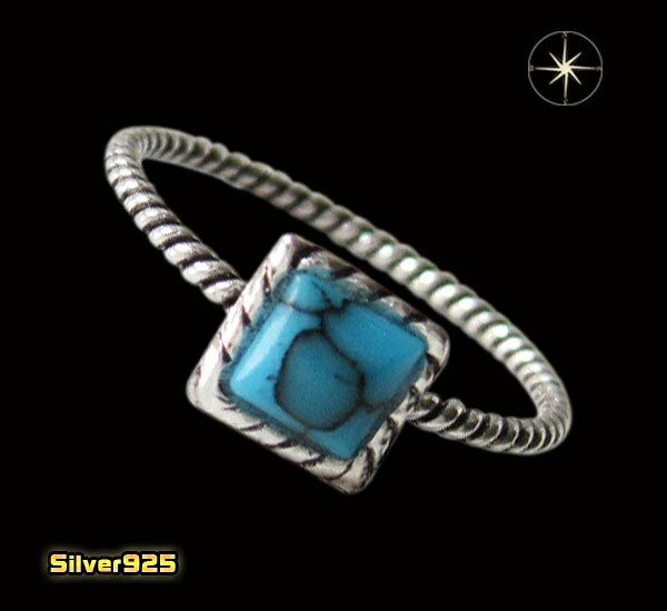 デザインリング(40)ターコイズ07号・09号・11号・13号・15号・17号/【メイン】天然石ターコイズ・トルコ石・シンプルな指輪・シルバー925銀送料無料!