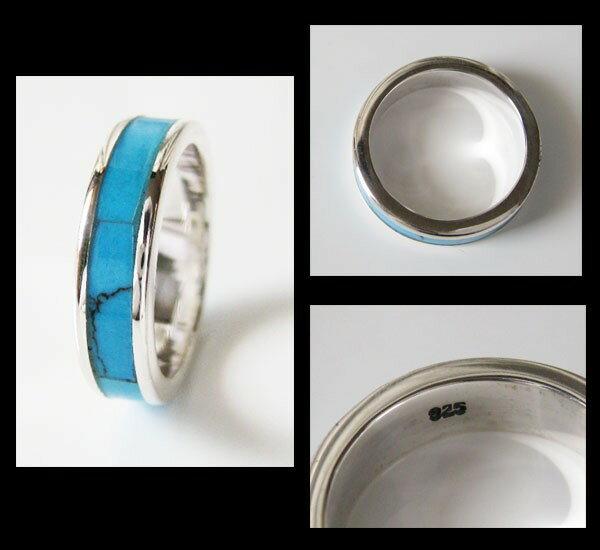 ターコイズリング(2)5号・7号・9号・11号・13号・15号・17号・19号・21号・23号・25号/【メイン】ネイティブシルバー925メンズ・レディース天然石・パワーストン・指輪