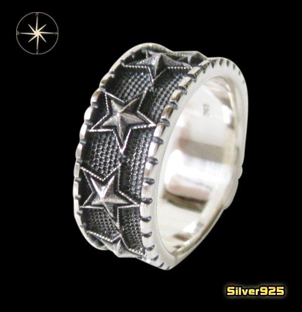 スターリング(10)15号・17号・19号・21号・23号・25号/(メイン)スター・星・指輪・リング・シルバー925製・銀・・アクセサリー・メンズ・レディース送料無料!