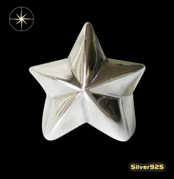 今だけ!スターリング(11)09号・11号・13号・15号・17号・19号・21号・23号・25号/(メイン)スター・星・指輪・リング・シルバー925製・銀・・アクセサリー・メンズ・レディース送料無料!