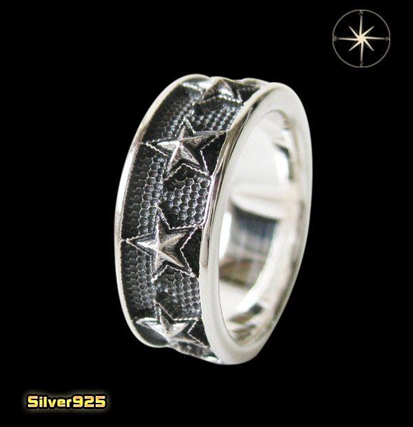 スターリング(9)07号・09号・11号・13号・15号・17号・19号・21号・23号・25号/(メイン)スター・星・指輪・リング・シルバー925製・銀・・アクセサリー・メンズ・レディース送料無料!