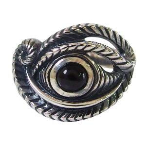 ホルスの目の指輪(2)BS15号フリーサイズ メイン ホルスの目 エジプト 天然石 パワーストーン 神 ブラックスター シルバー925製銀 メンズ レディース 送料無料 おしゃれ