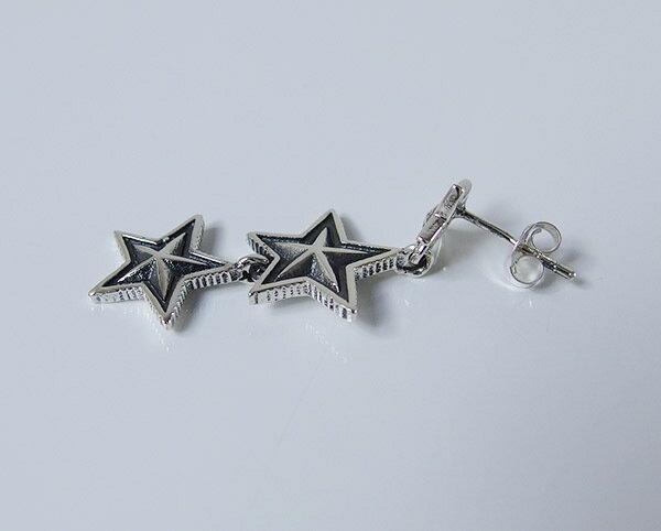 スターピアス(15)片耳売り/【メイン】星・半立体・スターピアス・シルバー925製銀・メンズ・レディース・