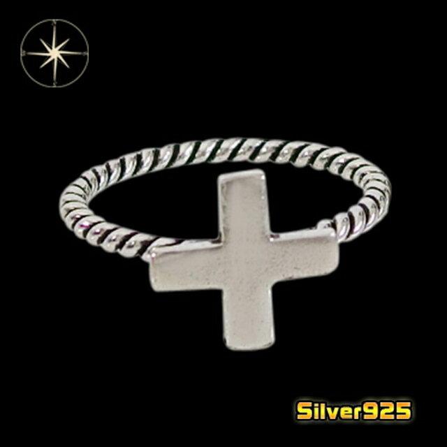 クロスリング(7)05号06号07号08号09号10号11号12号13号14号15号16号17号18号19号20号21号/【メイン】シルバー925銀レディースメンズ指輪・リング十字架・クロス送料無料!