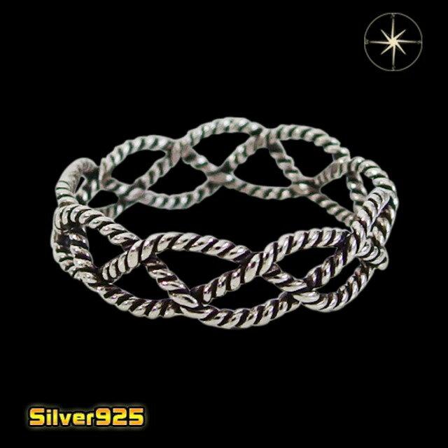 ロープの指輪(2)07号08号09号10号11号12号13号14号15号16号17号18号19号20号21号/【メイン】シルバー925銀レディースメンズ指輪・リング送料無料!