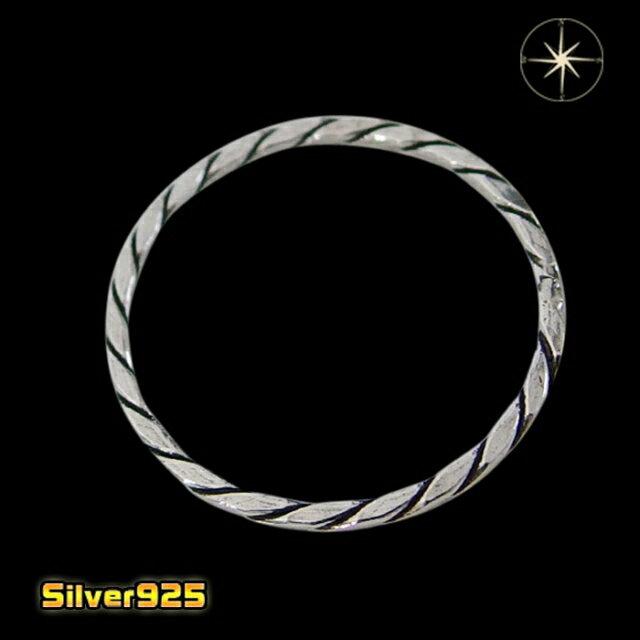 10OFロープの指輪(3)07号08号09号10号11号12号13号14号15号16号17号18号19号20号21号/【メイン】シルバー925銀レディースメンズ指輪・リング送料無料!