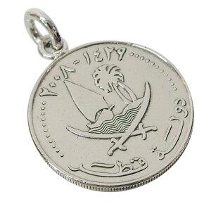 本物のカタールのコインペンダント(2) メイン 送料無料メンズ レディース ネックレス 硬貨 アラビア 送料無料 おしゃれ