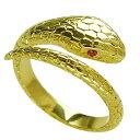 18Kゴールドコーティング スネークリング(2)RCZフリーサイズ メイン 動物 蛇 ヘビ 指輪 真鍮製 アクセサリー メンズ …