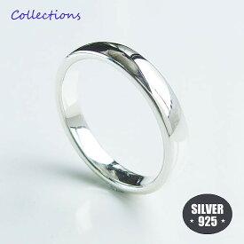 シンプル 甲丸 リング (1)3.5mm幅 メイン リング 指輪 シンプル シルバー925 銀 送料無料 メンズ レディース ユニセックス
