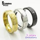 ステンレス リング(34)ローマ数字 選択可 金色 銀色 黒色 メイン 指輪 サージカルステンレス 316L メンズ レディース …