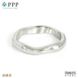 ステンレス リング(108)プレーン 銀色(メイン) 指輪 金属アレルギー対応 レディース メンズ 送料無料