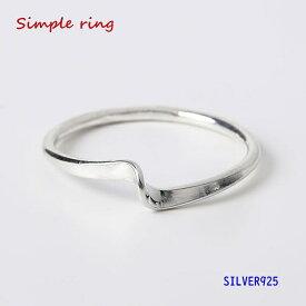 シンプルリング(2) メイン シルバー925 銀 指輪 ピンキーリング メンズ レディース 女性 送料無料 おしゃれ 人気アイテム