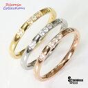 ステンレス リング (26)CZ 選択可 金色 銀色 ピンクゴールド 07号 09号 10号 11号 12号 13号 15号 16号 18号 19号 メイン サージカルステンレス 316L 指輪 送料無料 シンプル 金属アレルギー対応 ニッケルフリー 指輪 レディース 女性 ローズゴールド