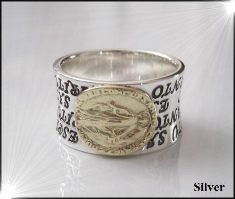 マリアの指輪(3)SV+G15号・16号・17号・18号・19号・20号・21号・22号・23号・25号/シルバー【メイン】銀リング指輪シルバー925(メンズ)/マリア リング 指輪 リング マリア送料無料!