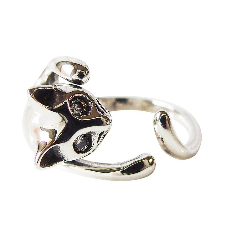 キャットリング フリーサイズ メイン ネコ・猫・ねこ 指輪 リング アクセサリー ネコ・猫・ねこ 指輪 リングバレンタイン 2019 送料無料 おしゃれ