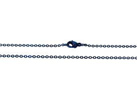 ステンレス ネックレス 平あずきチェーン青色1.5mm選択可40cm 45cm サージカルステンレス製316L金属アレルギー対応 メイン ステンレス ネックレス 送料無料 小豆 アズキ あづきおしゃれ プチプライス ユニセックス 男女兼用