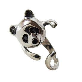 パンダの指輪 シルバー925 リング(フリーサイズ)BCZ メイン動物 メンズ レディース SILVER925 送料無料 おしゃれ