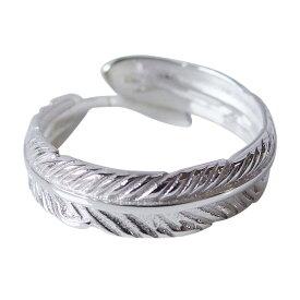 ホワイトフェザーリング(4)フリーサイズ09号 11号 13号 15号 メイン シルバー925 銀 ネイティブジュエリー 羽根 フェザー 指輪 リング メンズ レディース インディアンジュエリー 送料無料(あす楽対象 あす楽便) おしゃれ