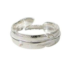 ホワイトフェザーリング(1)15号フリーサイズ 羽根 指輪 シルバー925 銀 メイン メンズ レディース ピンキーリング フェザー 指輪 リング 羽根 送料無料 (あす楽対象 あす楽便) おしゃれ