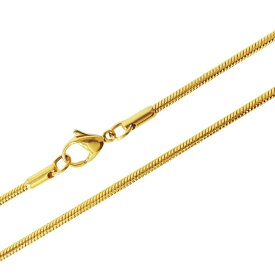 ステンレス ネックレス 金色 ロープチェーン2mm選択可40cm 45cm 50cm 60cm メイン ゴールドPVDコーティング金属アレルギー対応サージカルステンレス製316L 送料無料 おしゃれ プチプライス ユニセックス 男女兼用