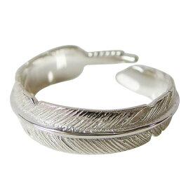 ホワイトフェザーリング(3)フリーサイズ03号 05号 06号 メイン 銀 ネイティブジュエリー 羽根 指輪 SILVER925 フェザー 指輪 リング 羽根 送料無料 おしゃれ