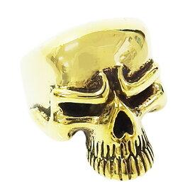 ブラススカルリング(1)ドクロ指輪真鍮製 メイン メンズ スカル 指輪 アクセサリー(SKULL ) 送料無料 おしゃれ