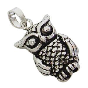 フクロウのペンダント メイン 鳥動物 ネックレス メンズ レディース 送料無料 おしゃれ