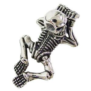 スカルトップ全身(1) メイン ドクロ 骸骨 ネックレス メンズ レディース スカル ペンダント アクセサリースカル ネックレス 送料無料 おしゃれ