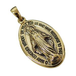 ブラスマリアプレート(3) 真鍮製金色ペンダント メイン ネックレス メンズ レディース 送料無料 おしゃれ