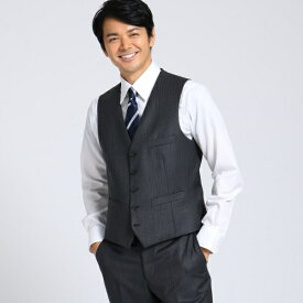 【Sサイズ〜】シャドーオルタネイトストライプベスト Fabric by MIYUKI KEORI/タケオキクチ