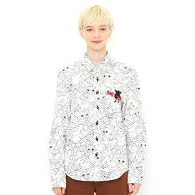【ユニセックス】コラボレーションシャツ/ラインアートパターン(グレムリン)/グラニフ