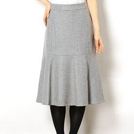 【アウトレット18FW】カシミヤ入り(2%)ウールストレッチマーメイドスカート/アールユー