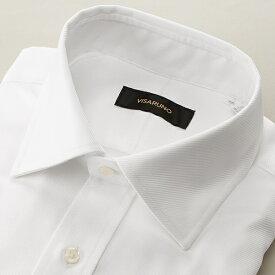 (形態安定加工生地)[ラクチンすっきりYシャツ]/ビサルノ(VISARUNO)