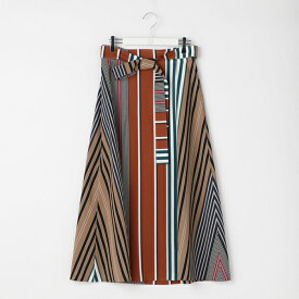 マルチストライプAラインラップスカート/ノーリーズ