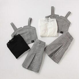 チェックビスチェ×スカート×レースTシャツ3点セット/ラブトキシック