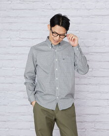 長袖ギンガムチェックシャツ/ゴールデンベア