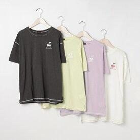 配色ステッチ半袖Tシャツ/ラブトキシック