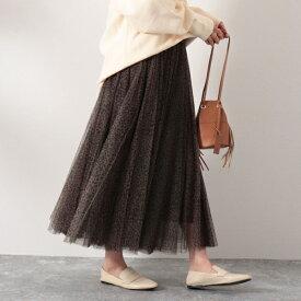 ◇【WEB限定】レオパードチュールスカート/ノーリーズ