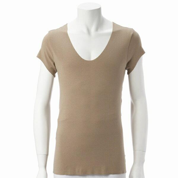 【SEEK】Yシャツに響きにくいアンダーウェア(カットオフUネック短袖Tシャツ)/シーク(SEEK)【MUND0518】