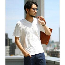 リーフパターンジャガード 半袖Tシャツ(大人Tシャツ)/メンズビギ(MEN'S BIGI)