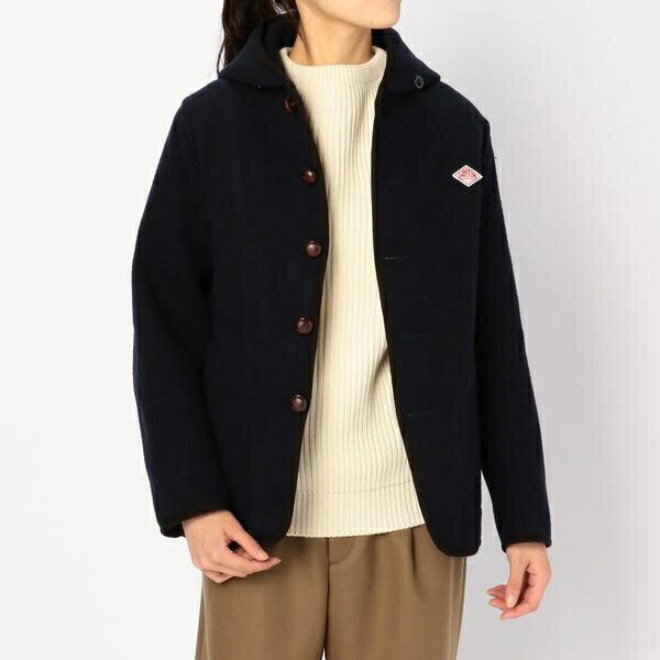【DANTON(ダントン)】ウールモッサ シングルフードジャケット WOMEN/ビショップ(レディース)(Bshop)