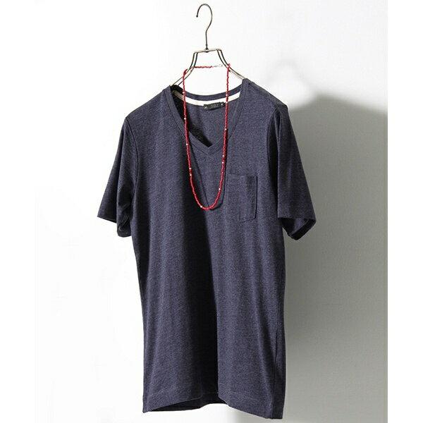 [WEB限定]CVC天竺VネックポケットTシャツ/メンズメルローズ(MEN'S MELROSE)