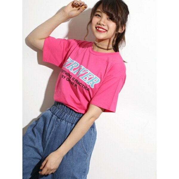ウィゴー(WEGO/ネオンカラーロゴプリントTシャツ)/ウィゴー(レディース)(WEGO)