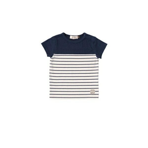 【ディーフェセンス】ボーダーTシャツ(80cm)ネイビー/ダッドウェイ(DADWAY )