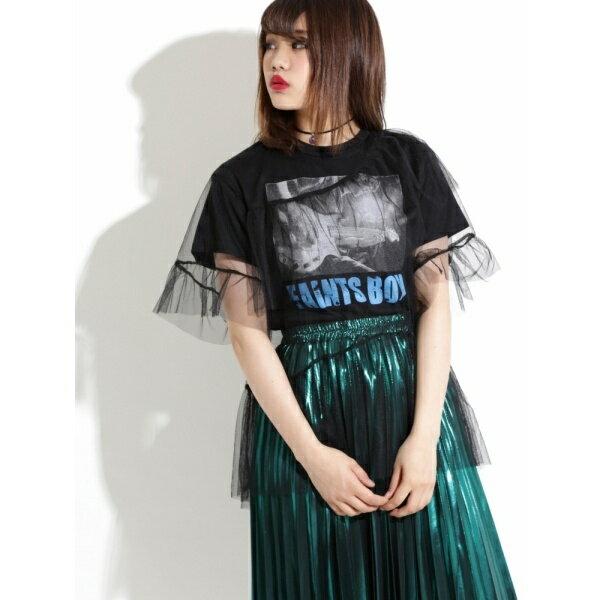 ウィゴー(WEGO/フリルチュールレイヤードTシャツ)/ウィゴー(レディース)(WEGO)