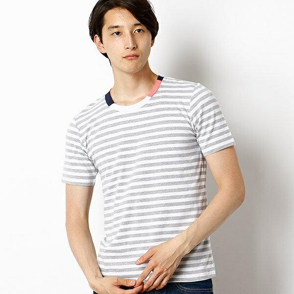 ブロックネックTシャツ/メンズメルローズ(MEN'S MELROSE)