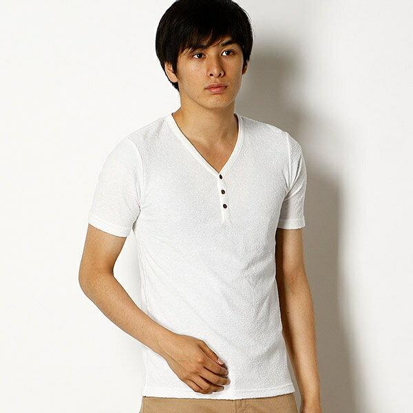 ミックスパイルヘンリーネックTシャツ/メンズメルローズ(MEN'S MELROSE)